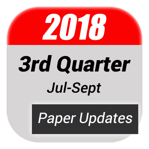 3rd Quarter Paper Updates For FD Books