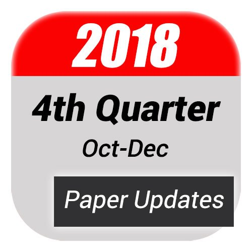 4th Quarter Paper Updates For FD Books