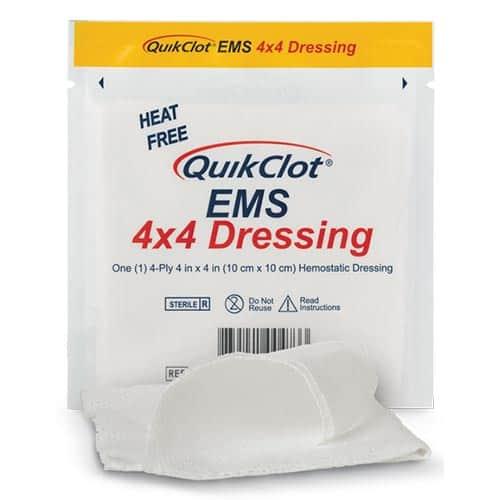 QuikClot® EMS 4x4 Dressing